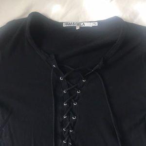 🖤🖤🖤 Pam & Gela lace up shirt